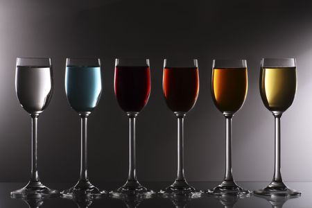 chose: a variety of liqueurs to chose from