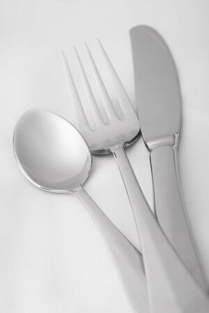 british cuisine: dining silverware Stock Photo