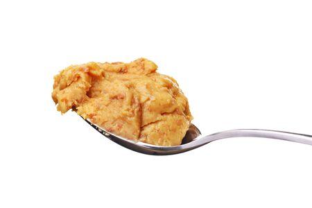 cuiller�e: cuill�re � soupe de beurre d'arachide croquant style Banque d'images