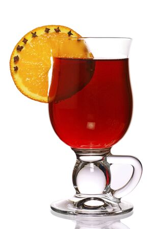 mulled: mulled wine with decorative oranges