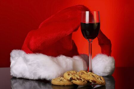 sherry: cookies and sherry for santa Stock Photo