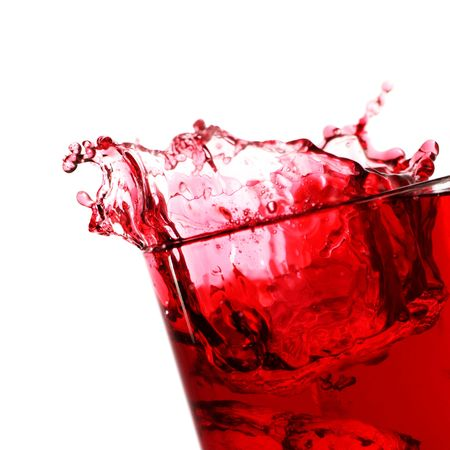 cranberry fruit: berry juice drink with a ice and a splash