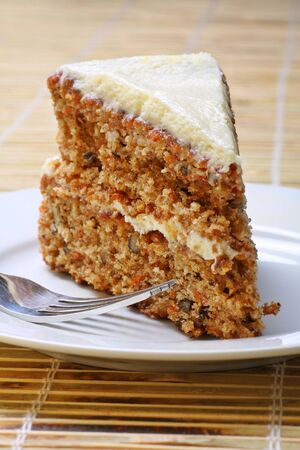 colorific: A slice of delicious carrot cake.
