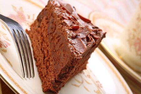 indulgent: indulgent chocolate cake gateau Stock Photo