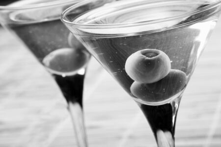 unwind: martini with olives Stock Photo