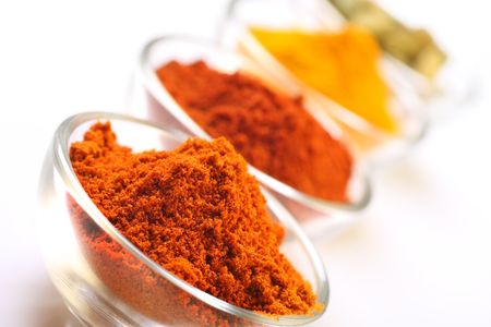 seedpod: a mixture of spices, turmeric, chilli , cayenne powder and cardamom seedpods
