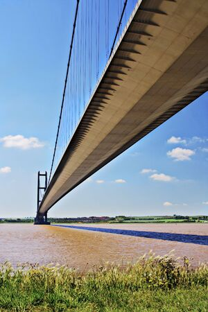 yorkshire and humber: Humber Bridge, Hull, East Yorkshire, England.