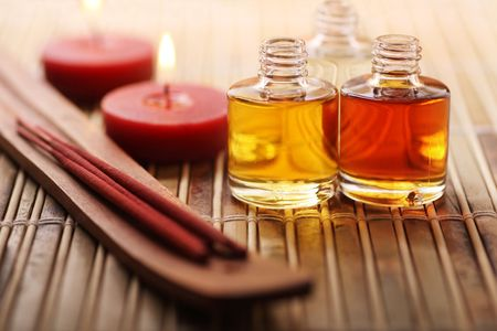 assorted oils and spa goods, perfect pampering.