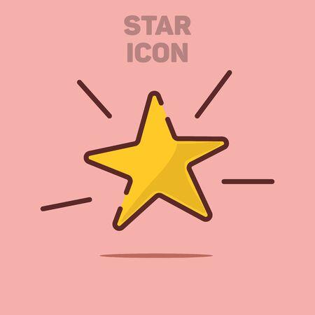 Isolated Flat Star Icon Vector Illustration Background Illustration