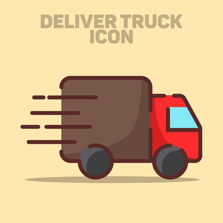 Isolated Delivery Truck Icon Vector Illustration Banco de Imagens - 132041077