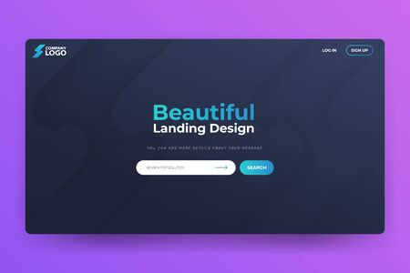 Beautiful Landing Page Vector Template Design