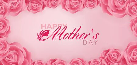 Beautiful Happy Mothers Day Vector Banner ad design Template Illustration