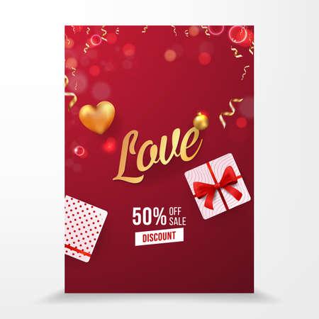 Love Vector Selling Brochure Template Design