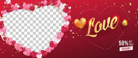 Love Vector Selling Banner,Poster,Flyer Template Design