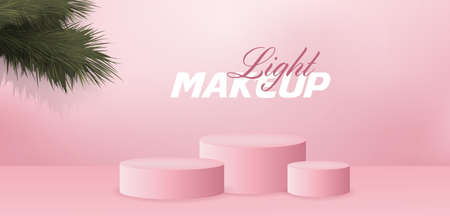 Light Makeup Beauty Fashion Podium Empty Stage Illustration