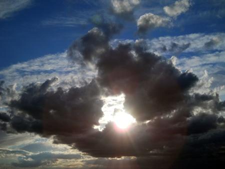 dyllic:           landscape, clouds Stock Photo