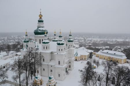 Trinity church in Chernigov Stock Photo