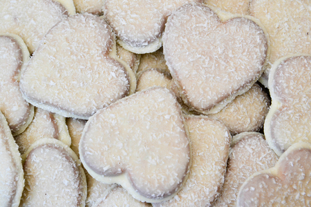 Heart shaped cookies photo