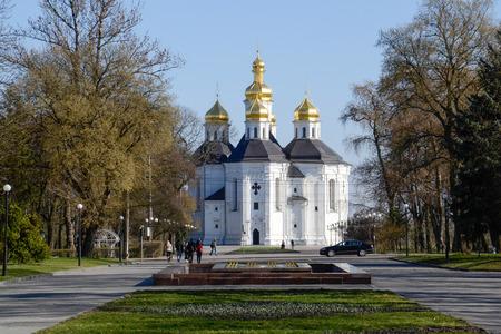 Catherine s church in Chernigov  Ukraine Stock Photo - 27336998