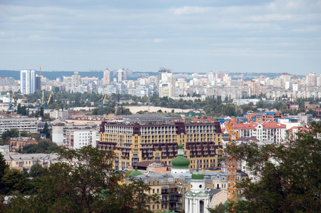 City of Kiev, Ukraine. General view of the big city 免版税图像