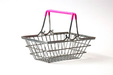Shopping basket isolated on white background. Concept discounts, purchase or sale of goods