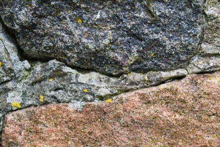 Brown with gray stone texture closeup, copy space Foto de archivo