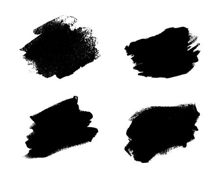 crafted: Collection of vector art brushes. Hand crafted custom grunge brushes with rough edges.