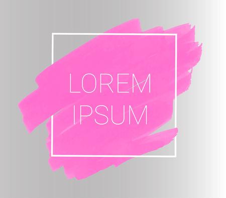 Vector pink markers. Elements for design and background Illustration