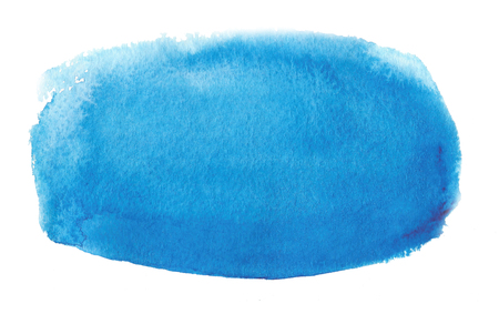 Wet brush painted smudges abstract illustration. Water drop design element for banner, print