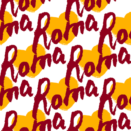 roma: Roma. Hand drawn lettering background. Ink illustration. Modern brush calligraphy. Isolated on white background. Illustration