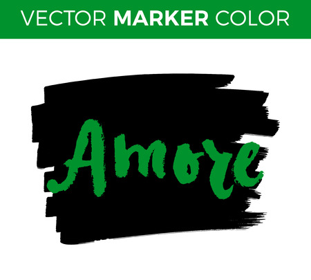 Amore Love In Italian Hand Lettering Calligraphy Marker In