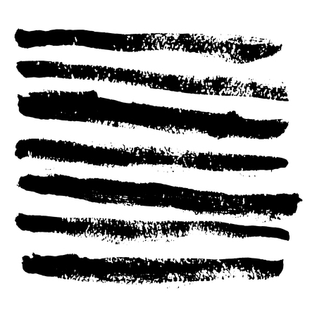 rough: Collection of vector art brushes. Hand crafted custom grunge brushes with rough edges.