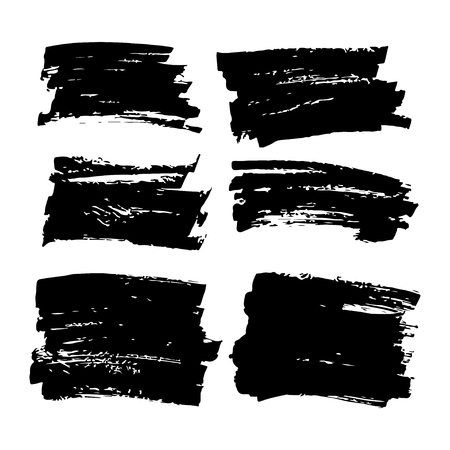 hand crafted: Collection of vector art brushes. Hand crafted custom grunge brushes with rough edges.