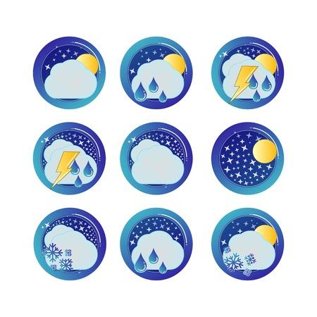 weather symbols: Weather icons set weather symbols illustration forecast