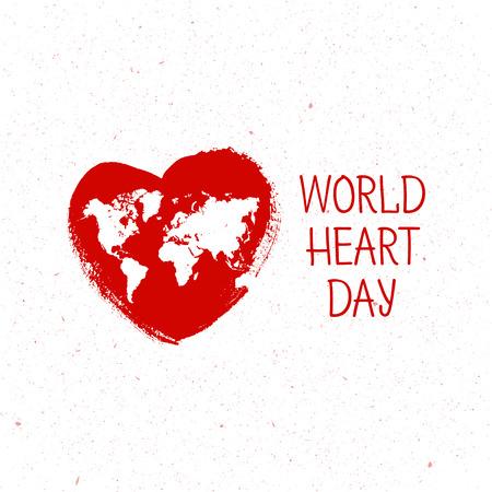 Vector illustration World Heart Day Background