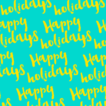 happy holidays: Happy Holidays hand-lettering. Handmade vector calligraphy