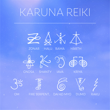 karmic: Sacred geometry. Reiki symbol. The word Reiki is made up of two Japanese words, Rei means Universal - Ki means life force energy.