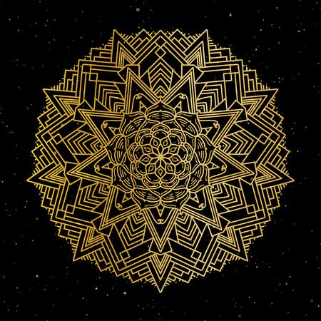 Oriental pattern, vector illustration. Islam, Arabic Indian turkish motifs