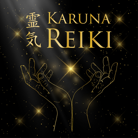 reiki: Sacred geometry with Reiki symbol.