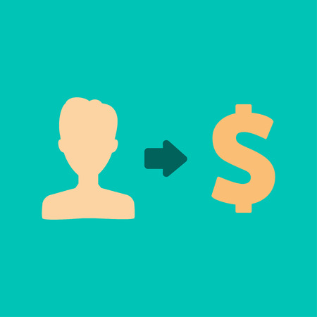 provision: Vector user earnings icon user-interface Illustration