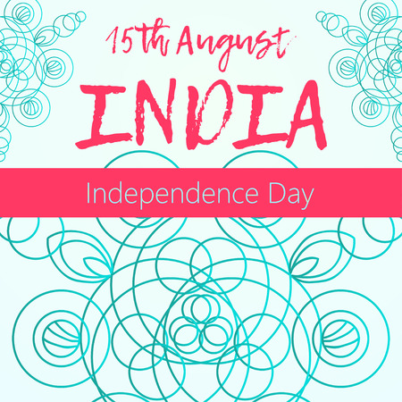 Independence Day of India. 15 th of August with mandala. Oriental pattern, vector illustration. Islam, Arabic Indian turkish