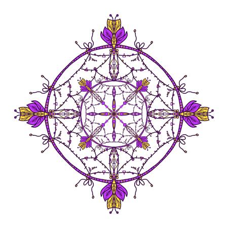 Flower Mandalas. Vintage decorative elements. Oriental pattern, vector illustration. Islam, Arabic, Indian turkish pakistan chinese