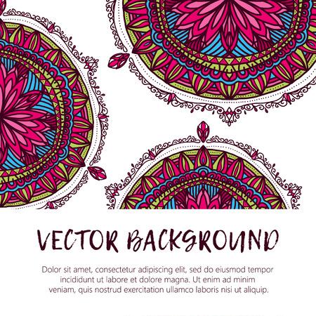 weave: Round flower ornament. Decorative vintage print. Luxury floral weave