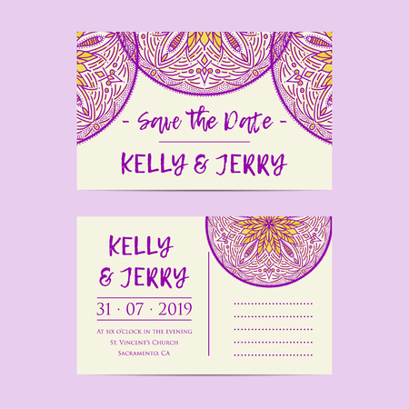 romantic date: Vintage template design layout for Wedding invitation for Wedding invitation, thank you card, save the date cards