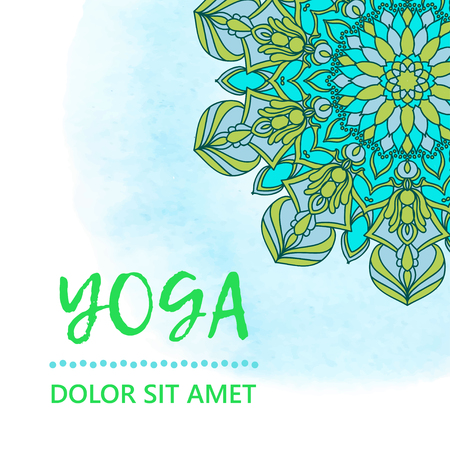 Template of poster for International Yoga Day. Flyer for 21 june, Yoga day
