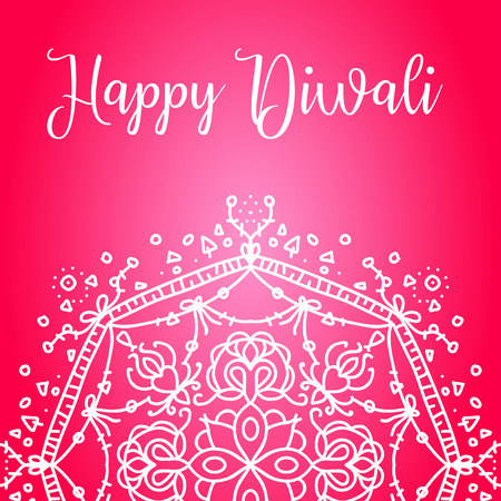 deepawali backdrop: Happy diwali lettering for your greeting card design graphic Illustration