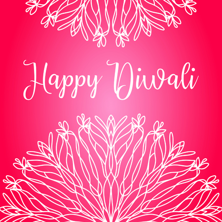 deepawali backdrop: Happy diwali lettering for greeting card design Illustration