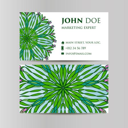meditation man: Vintage decorative elements. Business Cards. Ornamental floral. Oriental pattern, vector illustration. , Arabic Indian turkish motifs Illustration