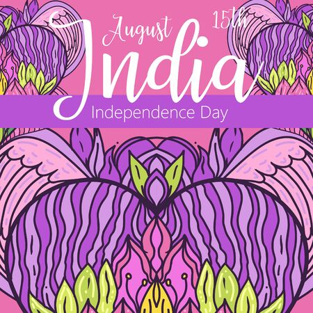 Happy Independence day India, Vector illustration, design for 15th August Illustration