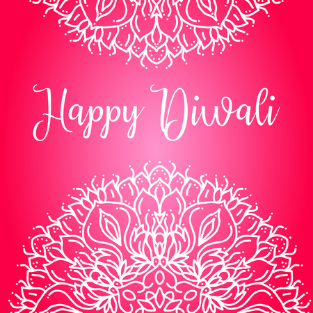 deepawali backdrop: Happy diwali lettering greeting card design